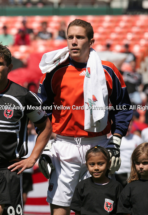 06 May 2007: DC's Troy Perkins.  DC United defeated CD Chivas USA 2-1 at RFK Stadium in Washington, DC in a Major League Soccer 2007 regular season game.
