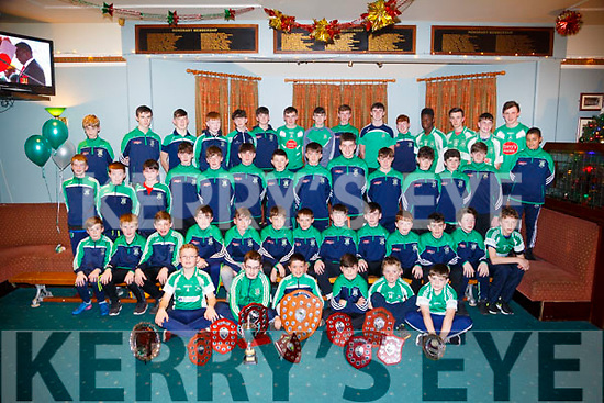 The Under 16s,14s and 12s Na Gael GAA footballers who were presented with their medals at a special ceremony in Na gael GAA Club Tralee on Friday night.