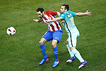 Atletico de Madrid's Juanfran Torres (l) and FC Barcelona's Jordi Alba during Spanish Kings Cup semifinal 1st leg match. February 01,2017. (ALTERPHOTOS/Acero)