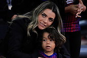 "7th January 2018, Camp Nou, Barcelona, Spain; La Liga football, Barcelona versus Levante; Barbara Caratxo wife of José Paulo Bezerra ""Paulinho"" of FC Barcelona before the start the game"
