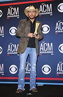 07 April 2019 - Las Vegas, NV - Jason Aldean. 54th Annual ACM Awards Press Room at MGM Grand Garden Arena. Photo Credit: MJT/AdMedia
