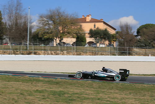 25.02.2016. Circuit de Catalunya, Barcelona, Spain. Day 4 of the Spring F1 testing and new car unvieling for 2016-17 season.  Mercedes AMG Petronas F1 W07 Hybrid – Nico Rosberg