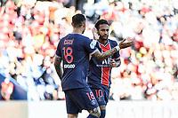 21st July 2020, Parc de Princes, Paris, France; Friendly club football, PSG versus Celtic;   NEYMAR JR of PSG celebrates a goal with Mauro ICARDI of PSG
