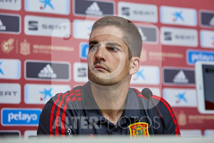 Robert Moreno during a press conference at Ciudad del Futbol in Las Rozas, Spain. September 03, 2019. (ALTERPHOTOS/A. Perez Meca)