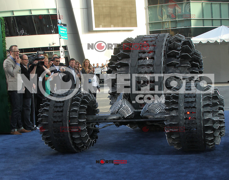 Battleship Vehicle at the film premiere of 'Battleship,' at the NOKIA Theatre at L.A. LIVE in Los Angeles, California. May, 10, 2012. © mpi20/MediaPunch Inc.