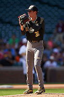 Mitchell Miller (30) of Loganville High School in Covington, Georgia during the Under Armour All-American Game on August 15, 2015 at Wrigley Field in Chicago, Illinois. (Mike Janes/Four Seam Images)