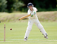 Adam Holmes bats for North Middlesex during the Middlesex County League Division two game between North Middlesex and Hornsey at Park Road, Crouch End on Sat July 9, 2011