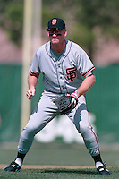 PHOENIX, AZ - Matt Williams of the San Francisco Giants plays defense at third base during a spring training game against the Oakland Athletics at Phoenix Municipal Stadium in Phoenix, Arizona in 1992. Photo by Brad Mangin