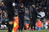 17th March 2019, Craven Cottage, London, England; EPL Premier League football, Fulham versus Liverpool; A dejected Fulham Manager Scott Parker as his team lag behind
