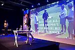 AMERSFOORT - Kyra van Leeuwen en en Etienne Verhoeff van Start2Create . .  Nationaal Golf Congres & Beurs (Het Juiste Spoor) van de NVG.     © Koen Suyk.