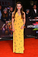 Katherine Langford at 'Knives Out' premiere, a modern whodunnit thriller, at Odoen Luxe Leicester Square, London, England on October 08, 2019.<br /> CAP/JOR<br /> ©JOR/Capital Pictures