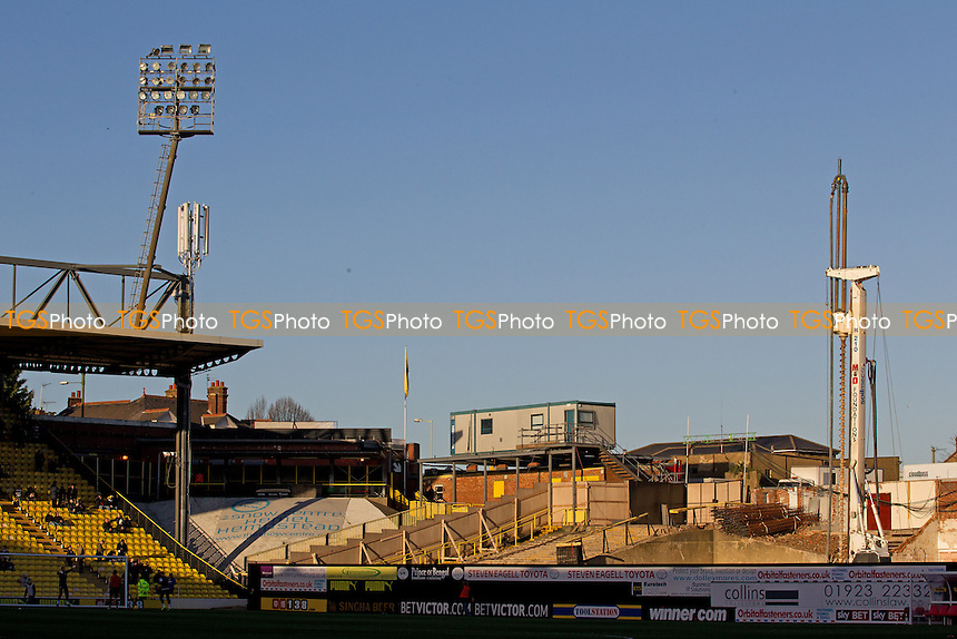 Vicarage Road, where re construction work is underway on the East Stand - Watford vs Queens Park Rangers - Sky Bet Championship Football at Vicarage Road Stadium, Watford, Hertfordshire - 29/12/13 - MANDATORY CREDIT: Ray Lawrence/TGSPHOTO - Self billing applies where appropriate - 0845 094 6026 - contact@tgsphoto.co.uk - NO UNPAID USE