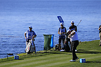 Shane Lowry (IRL) tees off the 7th tee at Pebble Beach course during Friday's Round 2 of the 2018 AT&amp;T Pebble Beach Pro-Am, held over 3 courses Pebble Beach, Spyglass Hill and Monterey, California, USA. 9th February 2018.<br /> Picture: Eoin Clarke | Golffile<br /> <br /> <br /> All photos usage must carry mandatory copyright credit (&copy; Golffile | Eoin Clarke)
