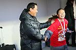 (L to R) .Norio Sasaki, .Homare Sawa (Leonessa), .DECEMBER 24, 2012 - Football /Soccer : .The 34 Empress's Cup .between INAC Kobe Leonessa 1-0 Jef United Ichihara Chiba Ladies .at NACK5 Stadium Omiya, Saitama, Japan. .(Photo by YUTAKA/AFLO SPORT)