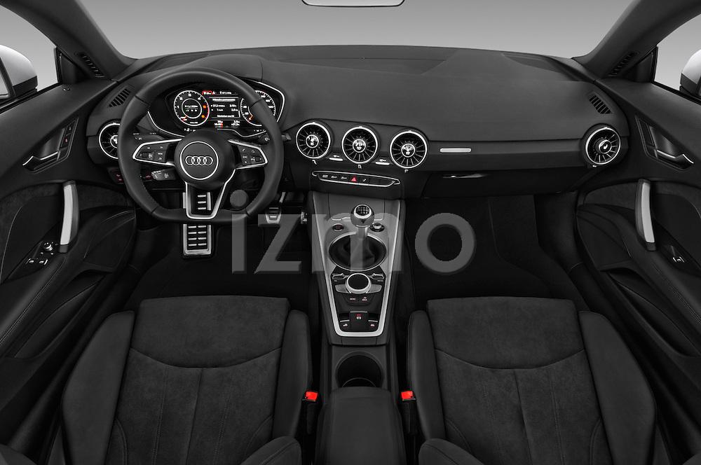 Stock photo of straight dashboard view of 2016 Audi TT-Roadster - 2 Door Convertible Dashboard