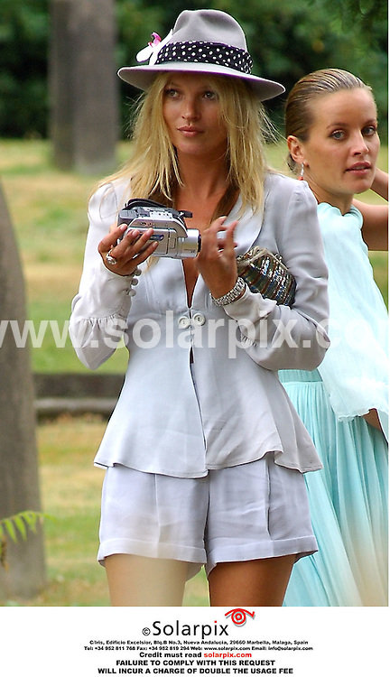 ALL-ROUND PICTURES BY SOLARPIX.COM.*MUST CREDIT SOLARPIX.COM OR DOUBLE USAGE FEE*.KATE MOSS.Primal Scream singer Bobby Gillespie today got married to Katy England at St.Margaret's Church in Betley, Staffs..Kate Moss was also present and read out loud for her friend's big day, along with her ex, Jefferson Hack and their daughter..Also attending was Sadie Frost and  Davinia Taylor..Ref:  2646 MSR-PRS - 29.07.06.
