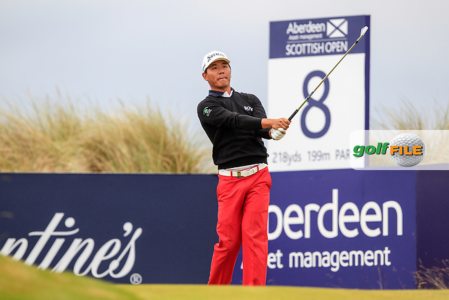 Wu Ashun (CHN) during round 3 of the Aberdeen Asset Management Scottish Open 2016, Castle Stuart  Golf links, Inverness, Scotland. 09/07/2016.<br /> Picture Fran Caffrey / Golffile.ie<br /> <br /> All photo usage must carry mandatory copyright credit (&copy; Golffile | Fran Caffrey)