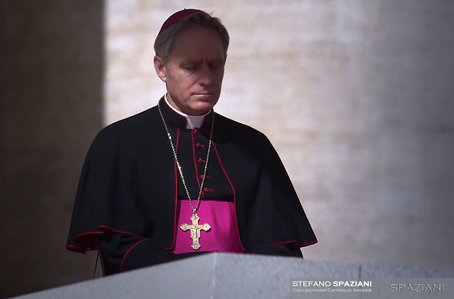 Monsignor Georg Gänswein,Pope Francis during of a weekly general audience at St Peter's square in Vatican.March 14, 2018