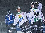 Uppsala 2014-01-12 Bandy  IK Sirius - GAIS Bandy :  <br />  GAIS Adam Rudell har gjort 5-3 och gratuleras av lagkamrater GAIS Calle Johansson <br /> (Foto: Kenta J&ouml;nsson) Nyckelord:  jubel gl&auml;dje lycka glad happy