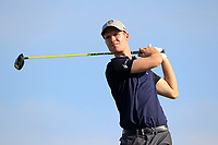 Harry Casey (ENG) on the 3rd during the 1st round of the 2017 Portugal Masters, Dom Pedro Victoria Golf Course, Vilamoura, Portugal. 21/09/2017<br /> Picture: Fran Caffrey / Golffile<br /> <br /> All photo usage must carry mandatory copyright credit (&copy; Golffile | Fran Caffrey)