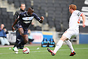 Lucas Akins of Stevenage wrong-foots Dean Lewington of Milton Keynes. MK Dons v Stevenage - npower League 1 - Stadium MK,  Milton Keynes - 20th October, 2012. © Kevin Coleman 2012