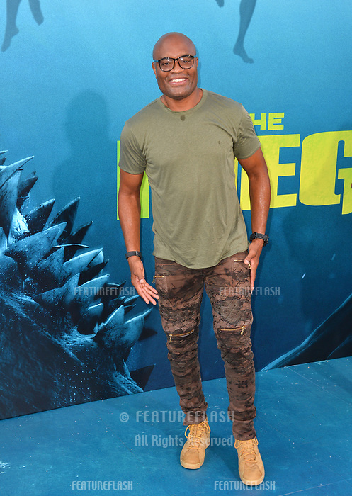 "LOS ANGELES, CA - August 06, 2018: Anderson Silva at the US premiere of ""The Meg"" at the TCL Chinese Theatre"