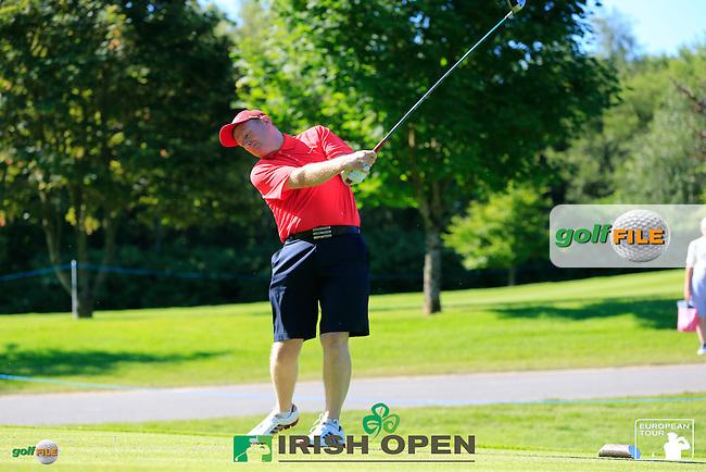 Eduardo de la Riva (ESP) team during Wednesday's Pro-Am of the 2014 Irish Open held at Fota Island Resort, Cork, Ireland. 18th June 2014.<br /> Picture: Eoin Clarke www.golffile.ie