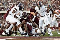 SAN MARCOS, TX - SEPTEMBER 23, 2017: The University of Texas at San Antonio Roadrunners defeat the Texas State University Bobcats 44-14 at Bobcat Stadium. (Photo by Jeff Huehn)