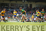 David Clifford Kerry in action against Jayme O'Sullivan Clare in the Munster Minor Football Final at Fitzgerald Stadium on Sunday.