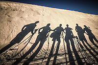 """Gettin' Silly on the Sand in New Mexico. Yep that's right I even make my Photo Workshop students have some """"shadow fun"""" with me. This was my """"Full Moon at White Sands Photo Workshop"""" in August 2012"""