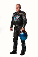 Feb 7, 2019; Pomona, CA, USA; NHRA top fuel Harley Davidson nitro motorcycle rider Bob Malloy poses for a portrait during NHRA Media Day at the NHRA Museum. Mandatory Credit: Mark J. Rebilas-USA TODAY Sports