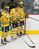 Greg Pateryn (Michigan - 2), Carl Hagelin (Michigan - 12), Louie Caporusso (Michigan - 29) - The University of Minnesota-Duluth Bulldogs defeated the University of Michigan Wolverines 3-2 (OT) to win the 2011 D1 National Championship on Saturday, April 9, 2011, at the Xcel Energy Center in St. Paul, Minnesota.