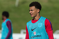 Dele Alli during the part open training session of the  England national football squad at St George's Park, Burton-Upon-Trent, England on 31 August 2017. Photo by James Williamson.