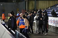 GOAL - Oldham Athletic fans celebrate their teams goal during the Sky Bet League 1 match between Oldham Athletic and Bristol Rovers at Boundary Park, Oldham, England on 30 December 2017. Photo by Juel Miah / PRiME Media Images.