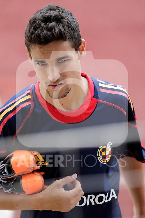 MADRID (25/05/09).- The Spanish Soccer national training session.  Jesus Navas...PHOTO: Cesar Cebolla / ALFAQUI