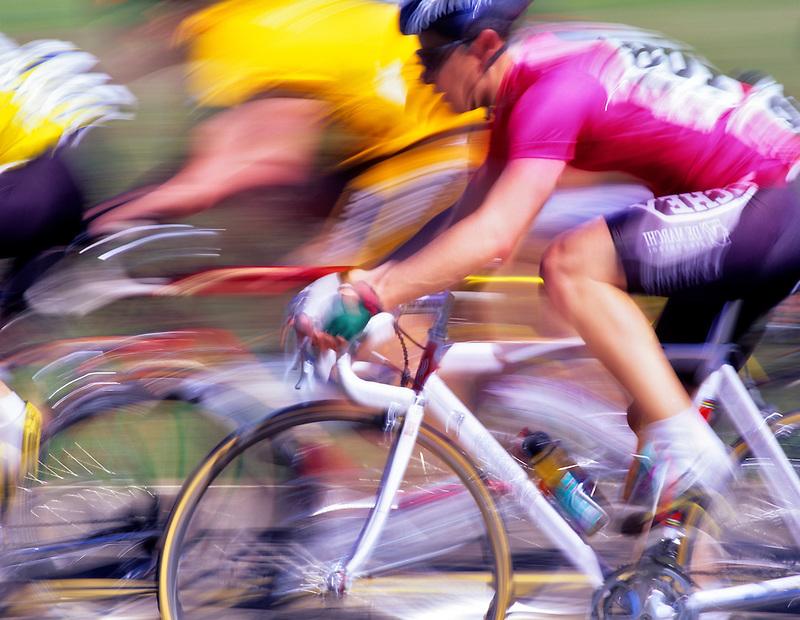 Bicycle race on Bellfountain Road. Near Alpine, Oregon.