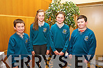 Sean Burkeondonghe, Tracy Buckley, Niamh Finnegan, Noah Moynihan Holy Family Rathmoore  at the Chapter 23 Credit Union Schools Quiz finals at Ballyroe Heights Hotel on Sunday