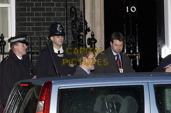 DAVID BLUNKETT.Leaving Downing Street, January 11th 2005..portrait headshot police mp car blunket.Ref: DH.www.capitalpictures.com.sales@capitalpictures.com.©David Hitchens/Capital Pictures .