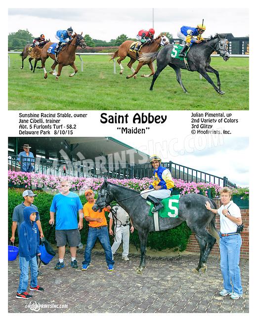Saint Abbey winning at Delaware Park on 8/10/15