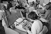 Typing class, Whitworth Comprehensive School, Whitworth, Lancashire.  1970.