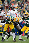 Tampa Bay Buccaneers quarterback Josh Freeman (5) throws the ball during a Week 11 NFL football game against the Green Bay Packers on November 20, 2011 in Green Bay, Wisconsin. The Packers won 35-26. (AP Photo/David Stluka)