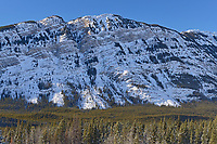 Canadian Rockies in winter. Kanaskis Range, Kananaskis Country, Alberta, Canada