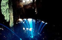 Rays of light penetrate the cristal clear waters of a cenote. Photos for Jasai´s catalogue of the houses of Memo and the surrounding area
