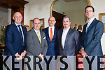 Jim McCarthy McCarthy/Sweeney Accountants, Sean O'Driscoll General Manager, Harry McCullogh and Kieran O'Regan McCarthy/Wall Solicitors at the new owners of the Muckross Park Hotel celebrations on Thursday night