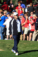Paul McGinley on the 14th hole during the Sunday singles matches of the 39th Ryder Cup at Medinah Country Club, Chicago, Illinois .(Photo Colum Watts/www.golffile.ie)