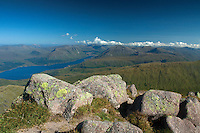 Loch Etive and Glen Etive from the Munro of Ben Cruachan, Argyll & Bute