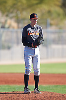 Wesley Hickman (43), from Kennewick, Washington, while playing for the Giants during the Under Armour Baseball Factory Recruiting Classic at Red Mountain Baseball Complex on December 29, 2017 in Mesa, Arizona. (Zachary Lucy/Four Seam Images)