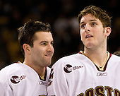 Anthony Aiello (BC 2), Andrew Orpik (BC 27) - The Boston College Eagles defeated the Harvard University Crimson 6-5 in overtime on Monday, February 11, 2008, to win the 2008 Beanpot at the TD Banknorth Garden in Boston, Massachusetts.