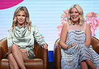 2019 FOX SUMMER TCA: (L-R): BH90210 cast members Jennie Garth, and Tori Spelling during the BH90210 panel at the 2019 FOX SUMMER TCA at the Beverly Hilton Hotel, Wednesday, Aug. 7 in Beverly Hills, CA. CR: Frank Micelotta/FOX/PictureGroup