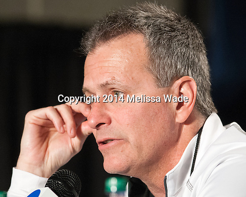 Don Lucia (MN - Head Coach) - The University of Minnesota Golden Gophers took part in a press conference and practice on Friday, April 11, 2014, during the 2014 Frozen Four at the Wells Fargo Center in Philadelphia, Pennsylvania.